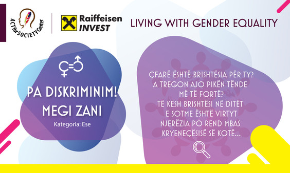 Konkursi LIVING WITH GENDER EQUALITY: Megi Zani
