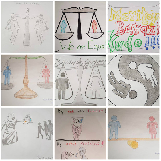 "Punime nga nxenesit pjesemarres ne projektin ""Youth & Gender"""