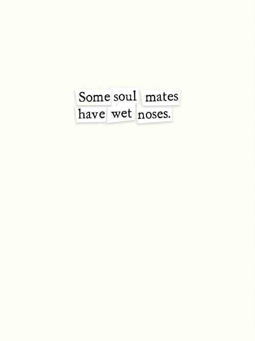 Soul Mates/Wet Noses Card