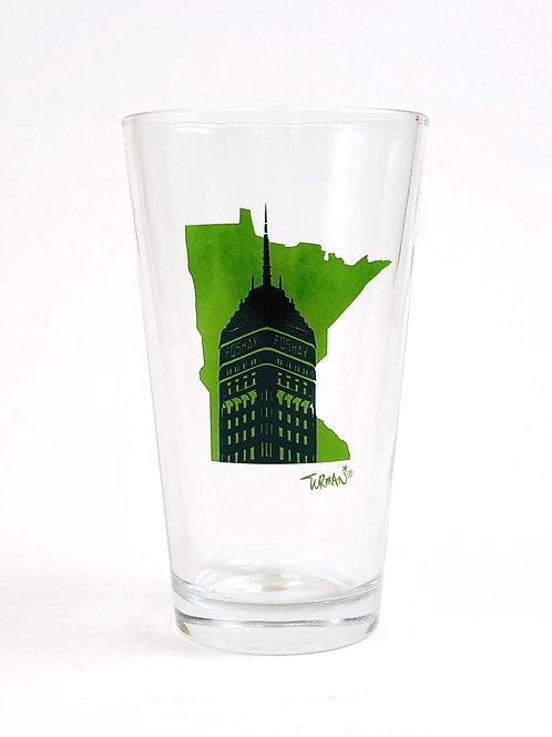 Foshay Tower Pint Glass