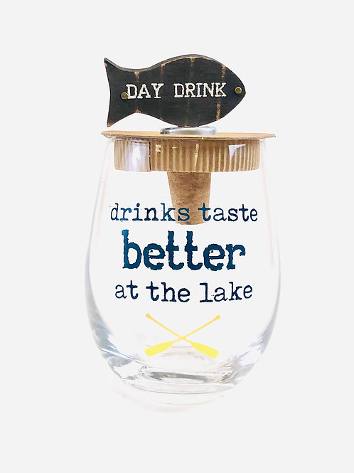 Better at the Lake Stemless Wine Glass