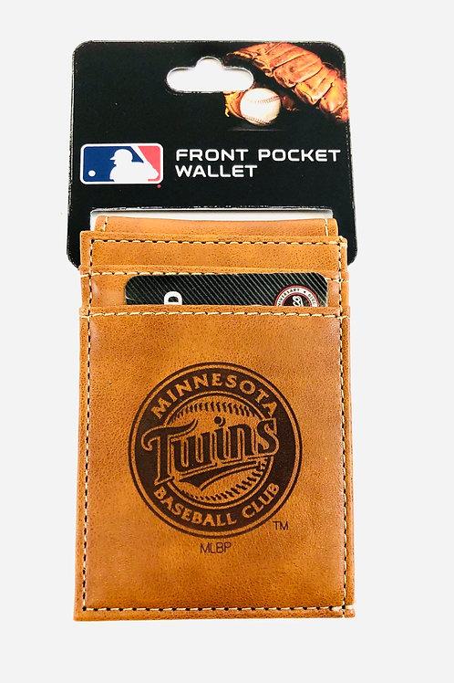 Minnesota Twins Vegan Leather Front Pocket Wallet