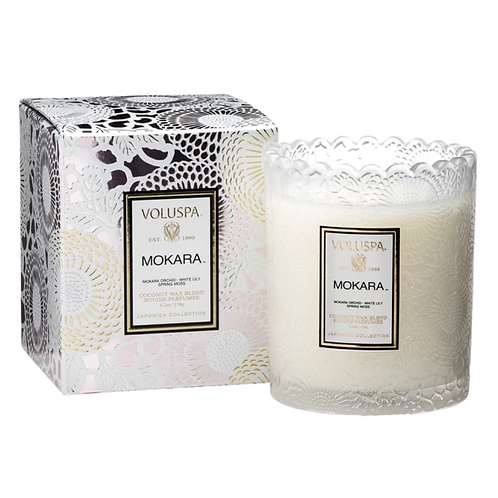 Mokara Scalloped Edge Candle