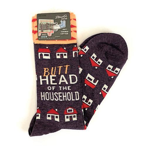 Butt Head of the Household Men's Socks