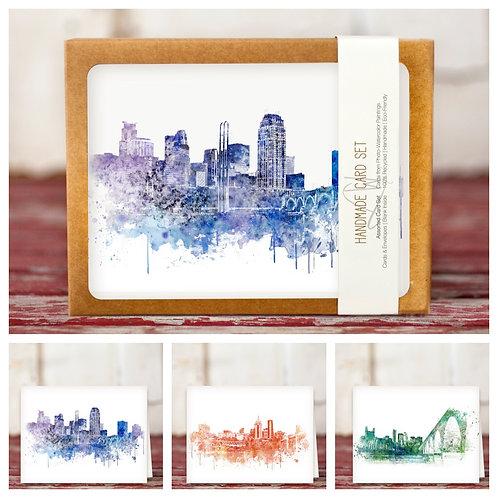 Skylines Notecards- Set of 8