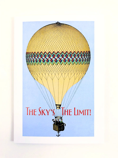 The Sky's the Limit Graduation Card