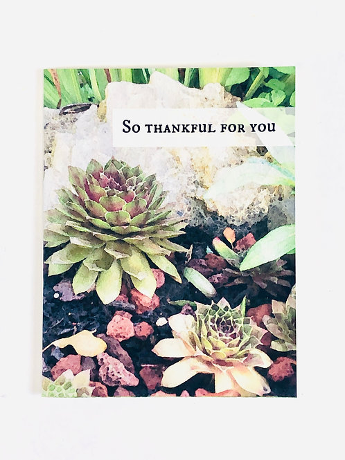 So Thankful for You Greeting Card