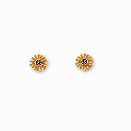 Puravida Sunflower Stud Earrings