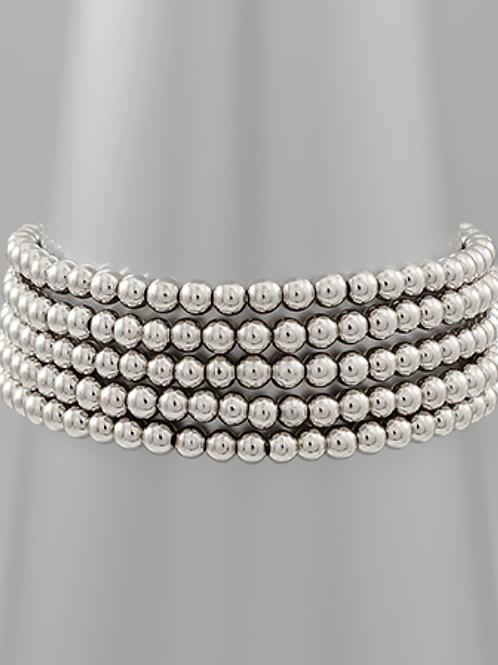 Multi Ball Silver Bracelet