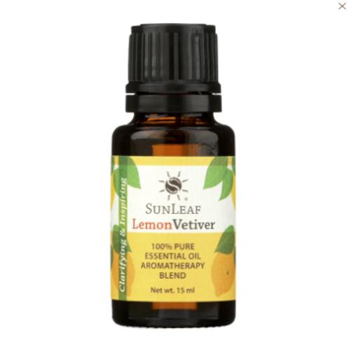 Sunleaf Naturals 100% Essential Oil- Lemon Vetiver