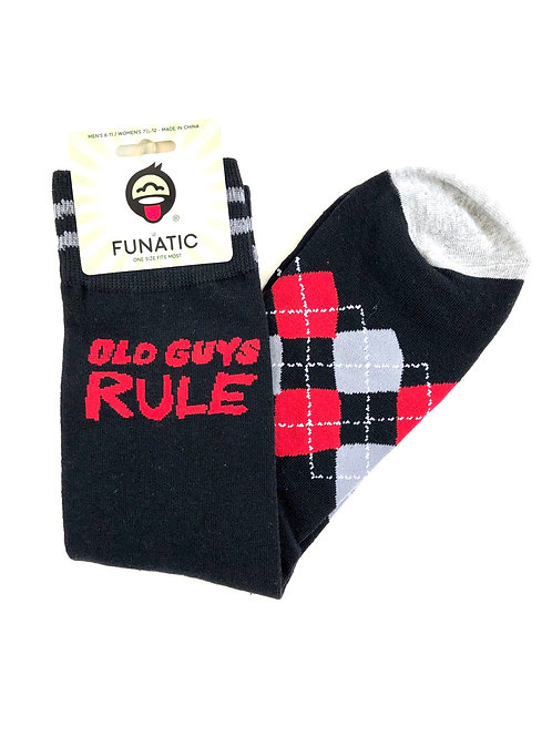Mens Old Guys Rule Socks