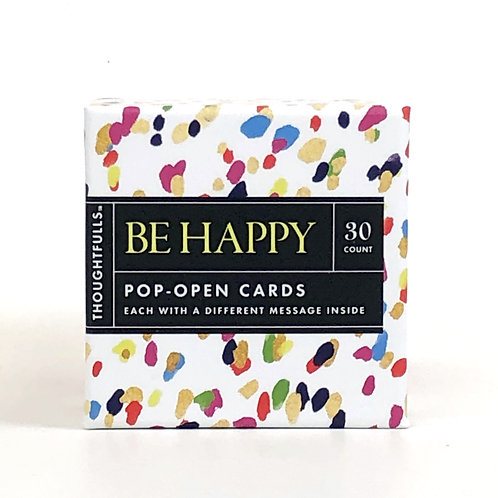 Be Happy Pop Open Cards- Set of 30