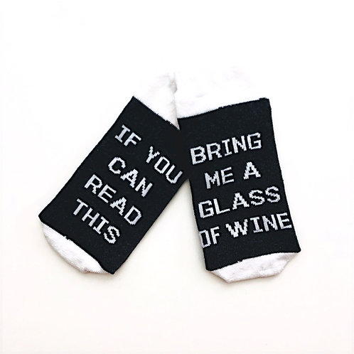 Read This/Wine Unisex Women's Socks