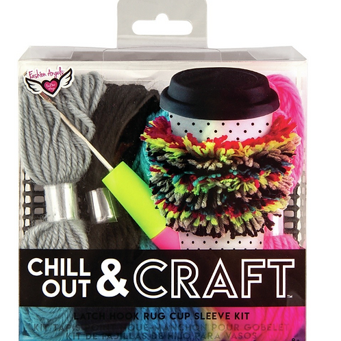 Chill Out and Craft- Latch Hook Cup Sleeve Set