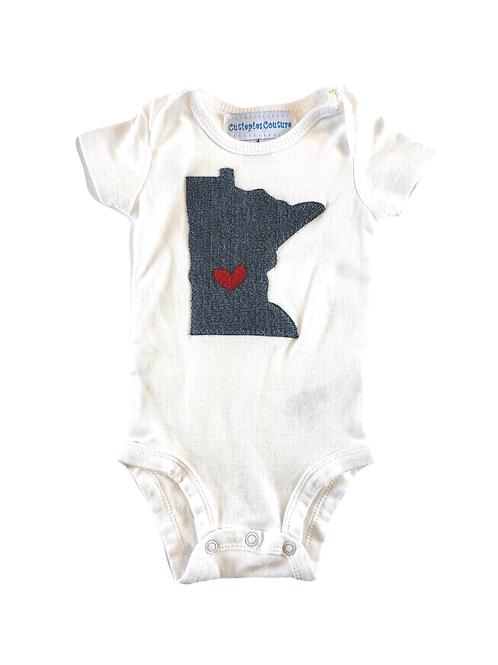 Minnesota Baby Onesie- Denim