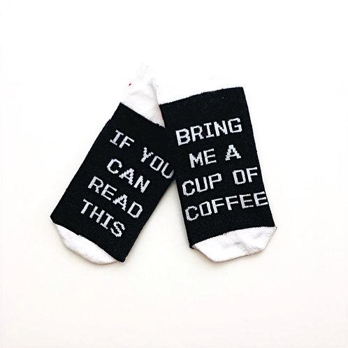 Read This/Coffee Unisex Socks