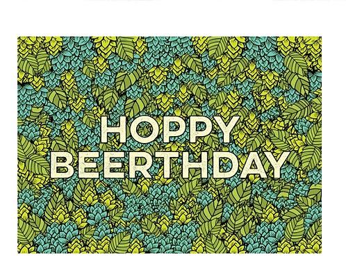 Hoppy Beerthday Greeting Card