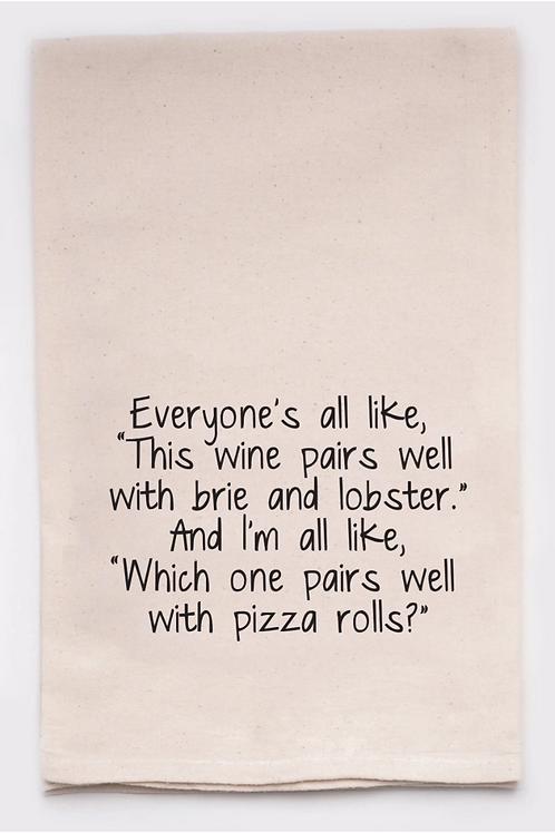 Pizza Rolls Dish Towel