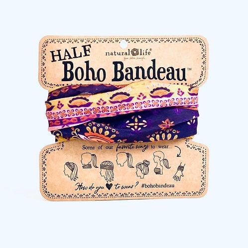 Natural Life Half Boho Bandeau- Purple