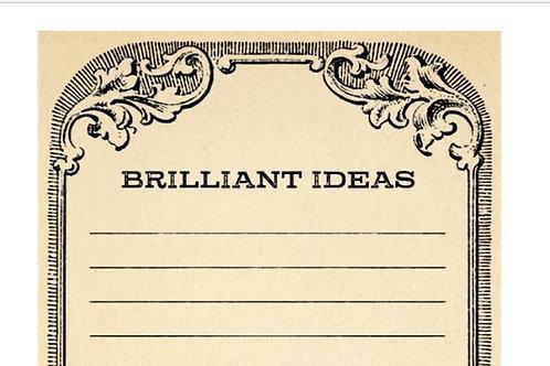 Brilliant Ideas Notepad