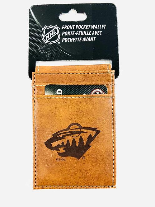 Minnesota Wild Vegan Leather Front Pocket Wallet