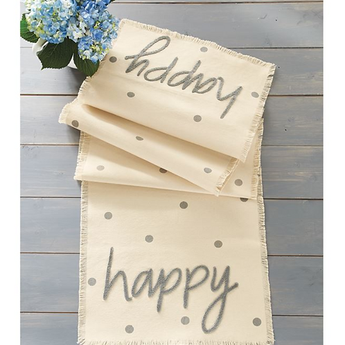 """Happy"" Table Runner"