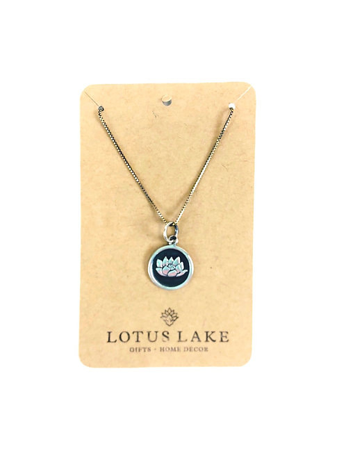 """Sterling Silver Lotus Necklace- 18"""""""
