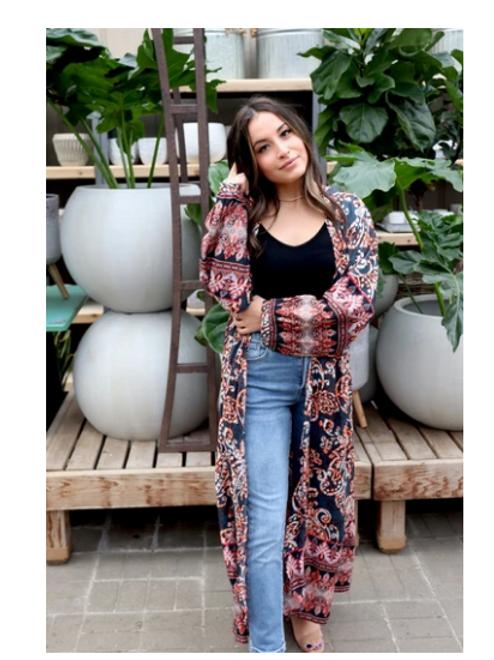 Kimono- Paisley