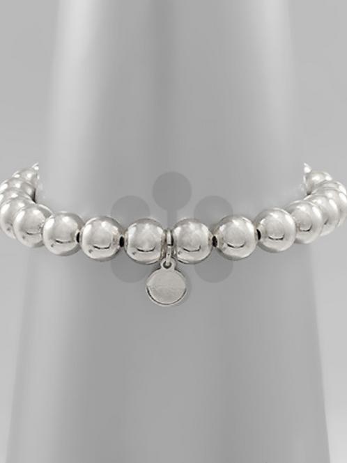 Large Silver Ball Bracelet