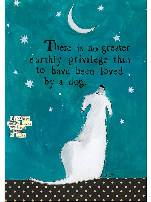 Loved By a Dog Greeting Card