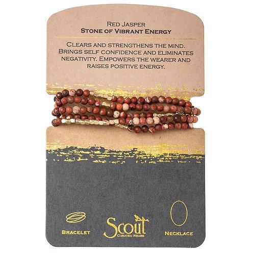 Scout Red Jasper- Wrap Bracelet/Necklace