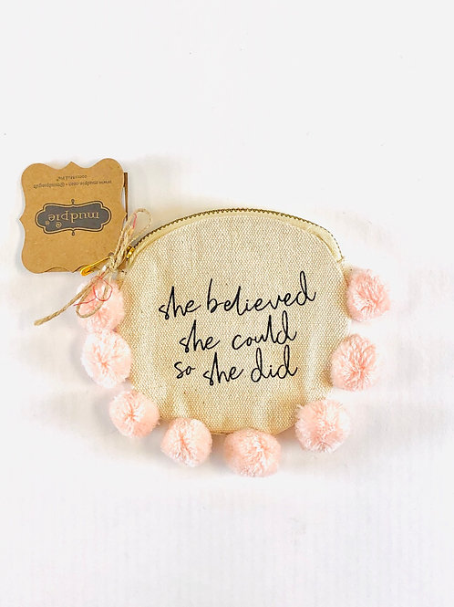 She Believed She Could Canvas Pouch