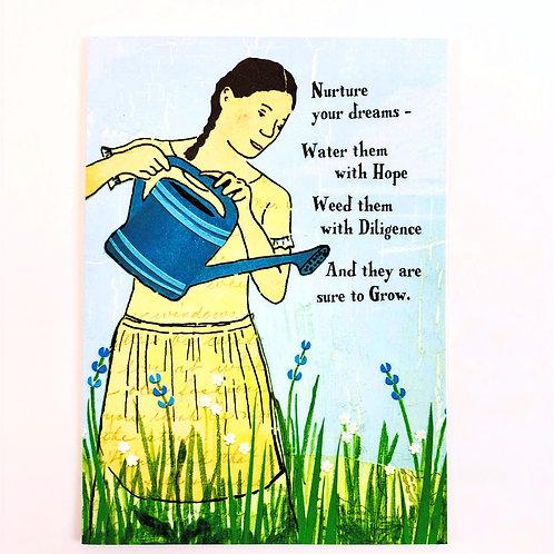 Nurture Your Dreams Greeting Card-Congratulations