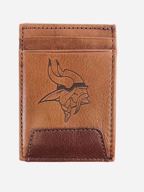 Minnesota Vikings Leather Front Pocket Wallet