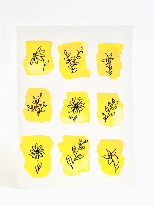 Original Hand-painted Greeting Card- Blank