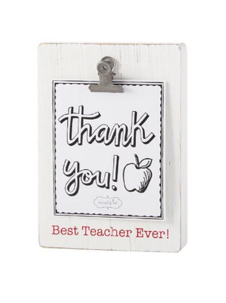 Best Teacher Ever Binder Clip Frame