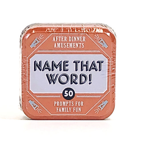 Name That Word- 50 Prompts for Family Fun