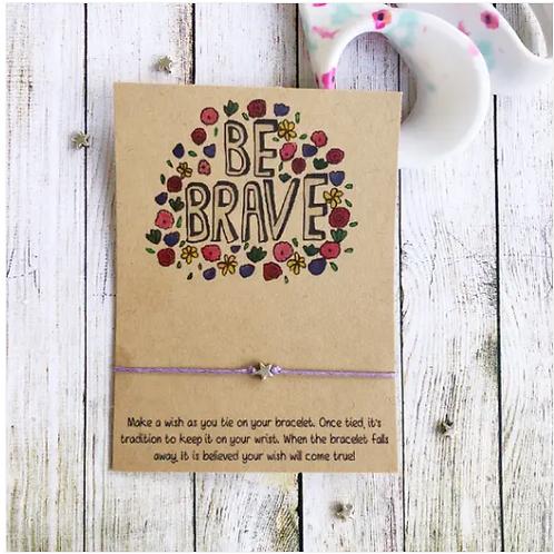 Be Brave Wish Bracelet