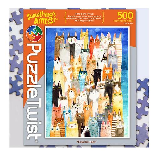 Colorful Cats 500 Piece Puzzle