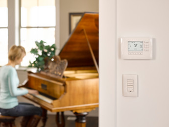 Beautify your wall with Control4's new Smart Thermostat from Aprilaire