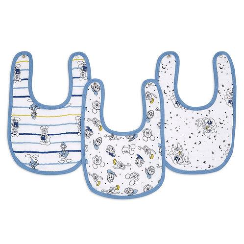 Набор из 3х нагрудных фартуков Mickey stargazer snap bibs Essentials Aden Anais