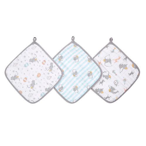 Набор из 3-х полотенец для лица и рук Dumbo new heights Essentials Aden Anais