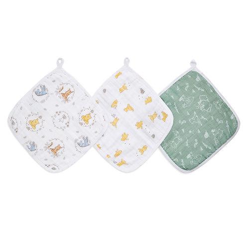 Набор из 3-х полотенец для лица и рук Winnie+friends Essentials Aden Anais
