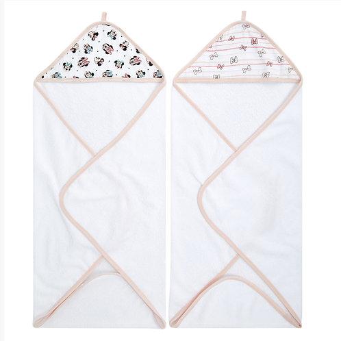 Набор из 2х полотенец с уголком Minnie rainbows Essentials Aden Anais
