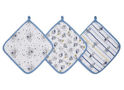 Набор из 3-х полотенец для лица и рук Mickey stargazer Essentials Aden Anais