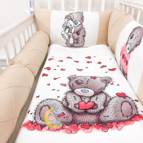 Бортики в кроватку из сатина