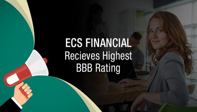 ECS Financial Services Announces A+ BBB Rating
