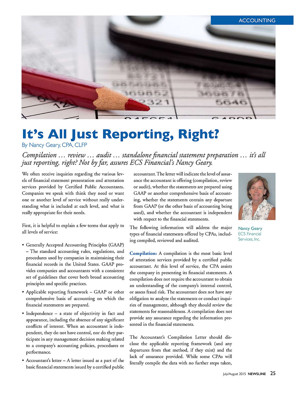 PDF Article - It's All Just Reporting, Right?