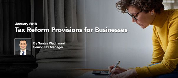 Tax Reform Provisions for Businesses