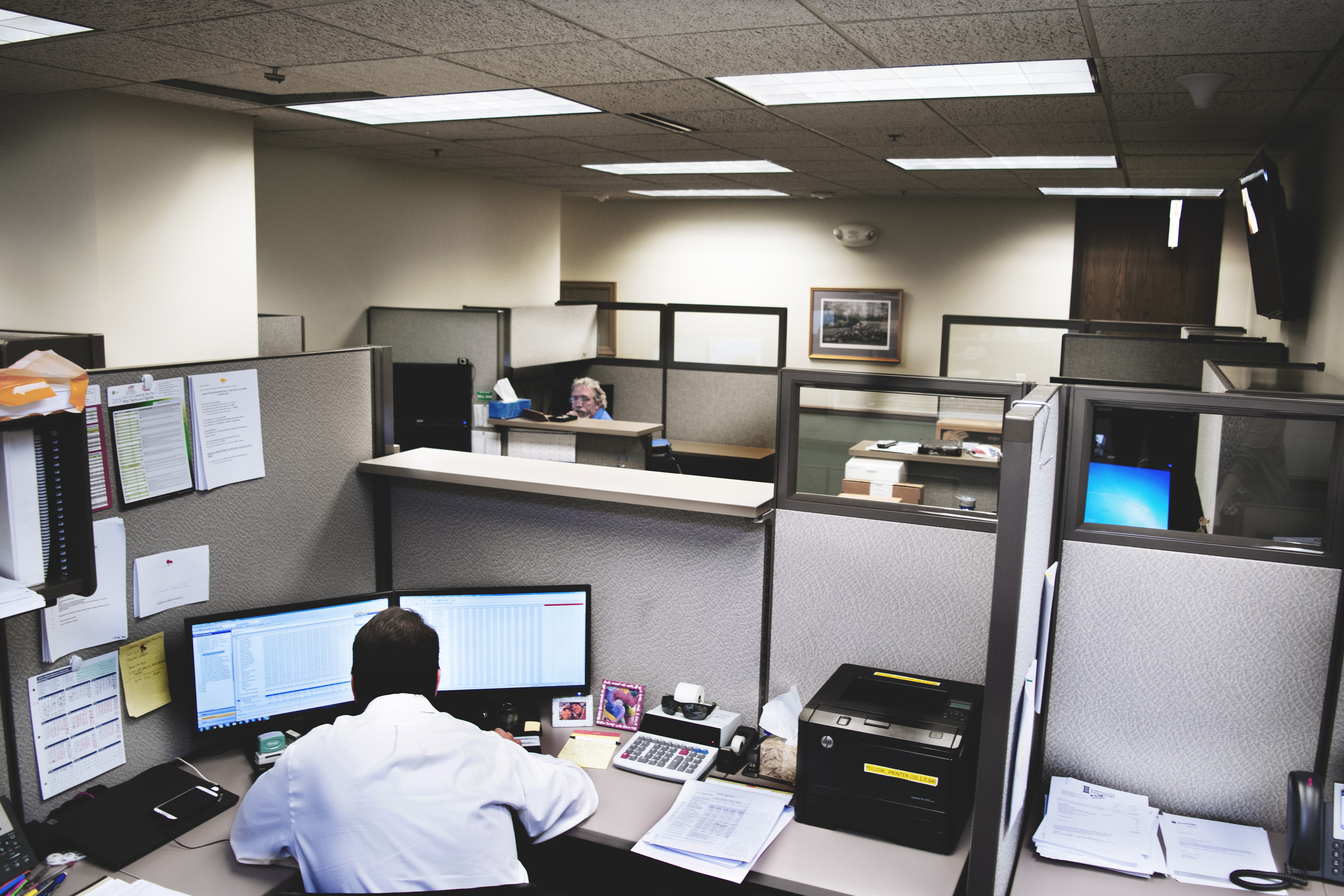 Cubicles at ECS Financial Services